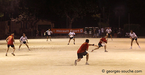 Match de Tambourin. Cournonterral, juillet 2009