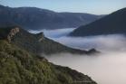 Brume au-dessus de la vallée du Jaur